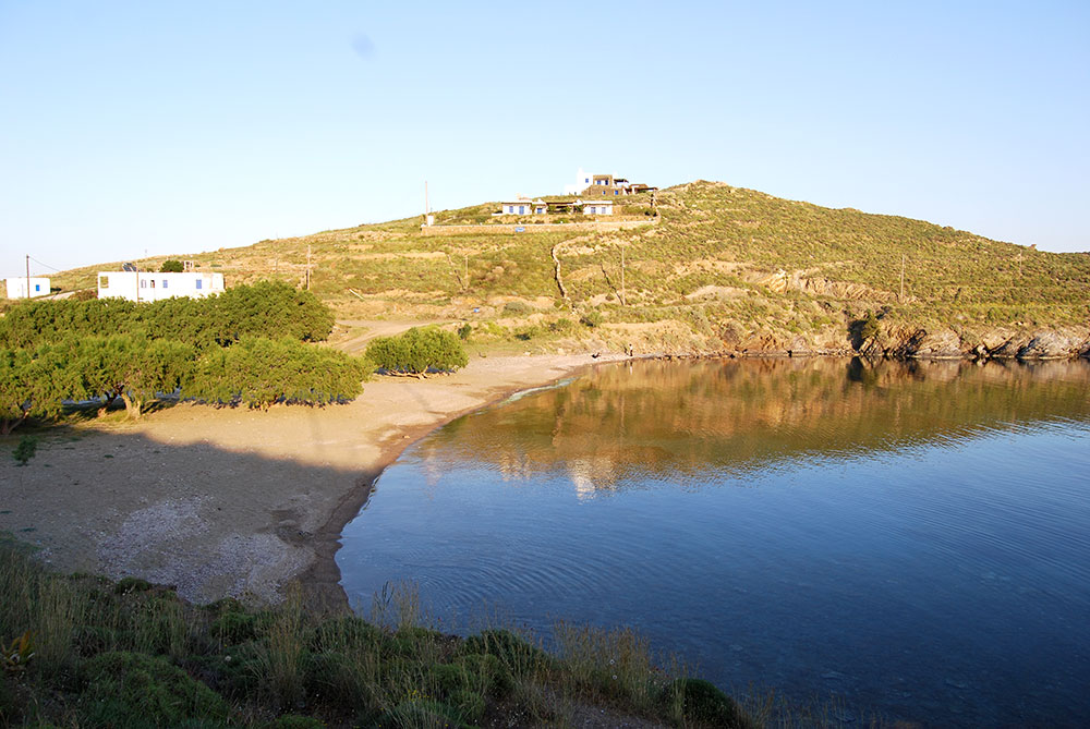 The beach Fassolou at Faros